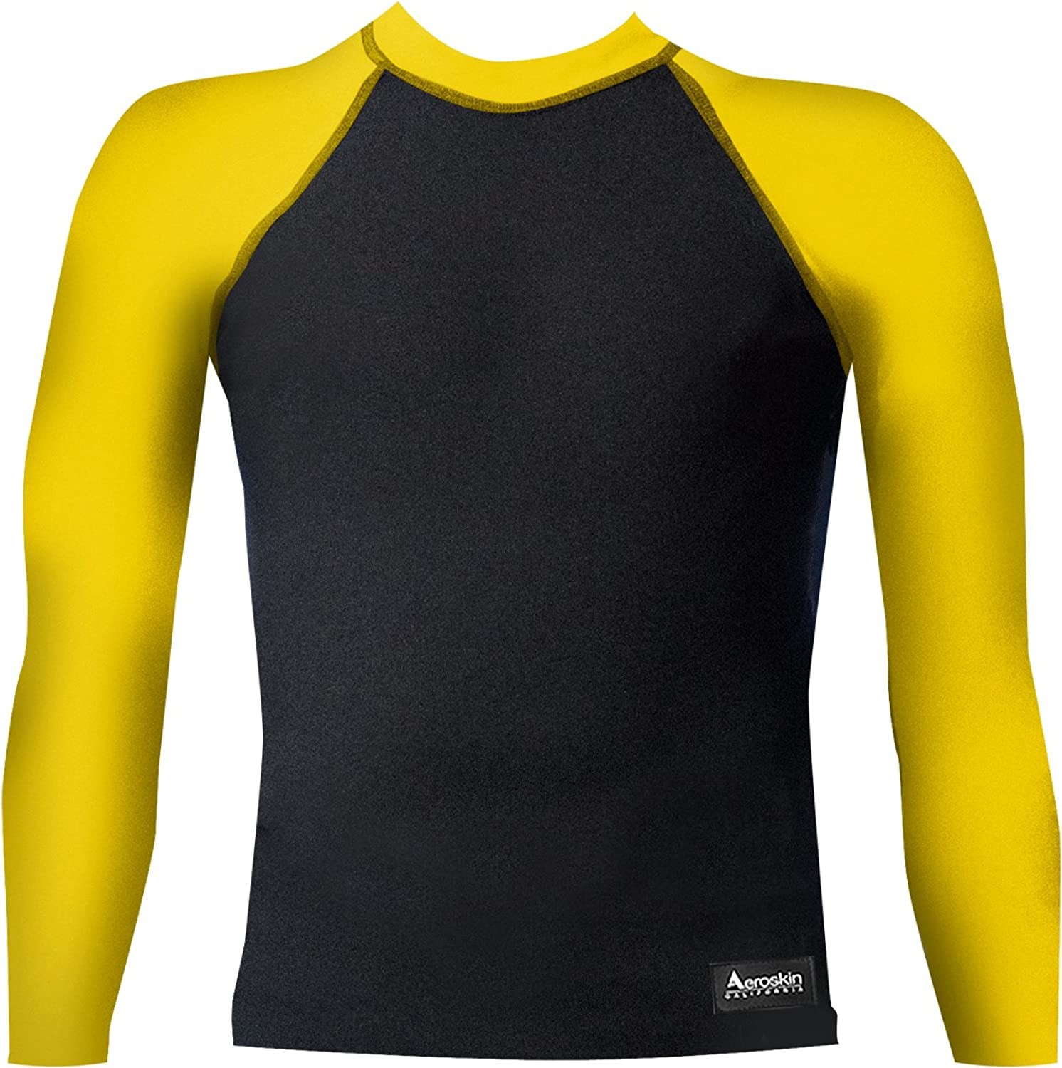 Aeroskin Raglan Long Sleeve Shirt with color Accent and Fuzzy Collar