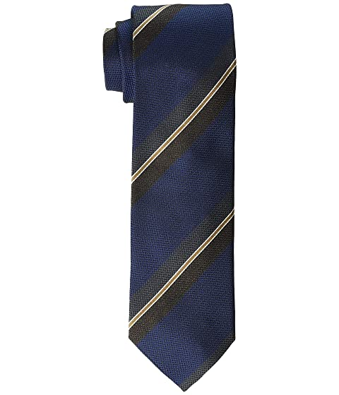 Eton Outlined Stripe Silk Tie