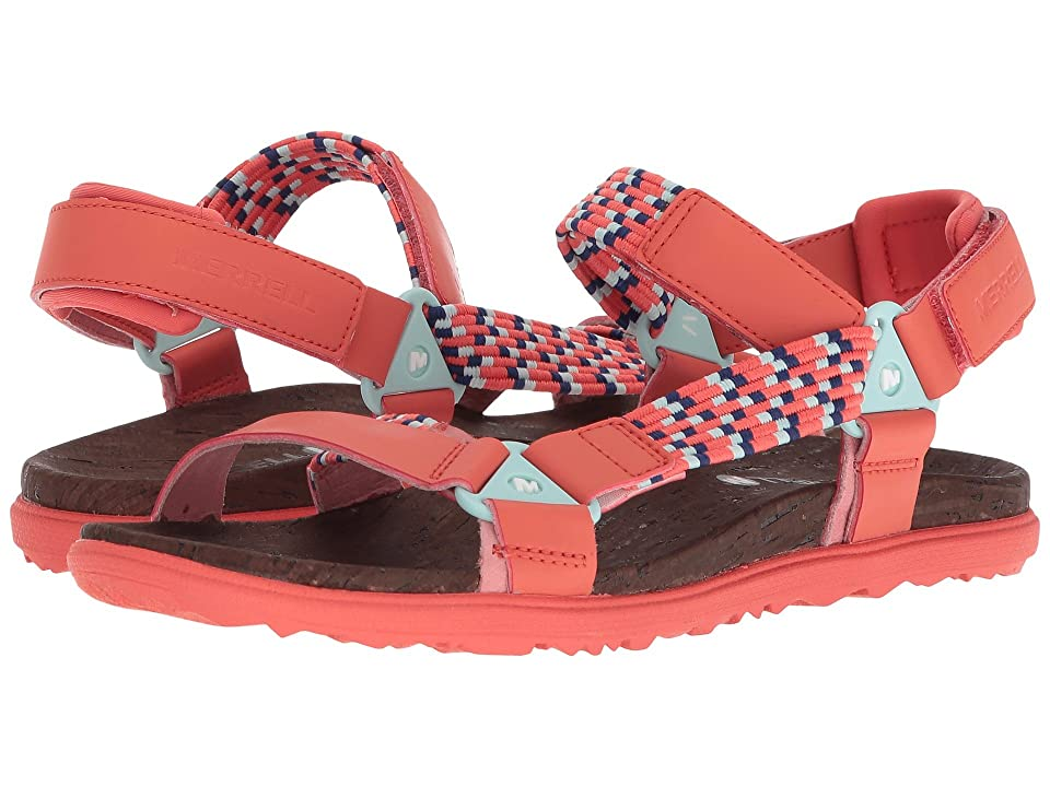 Merrell Around Town Sunvue Woven (Hot Coral) Women