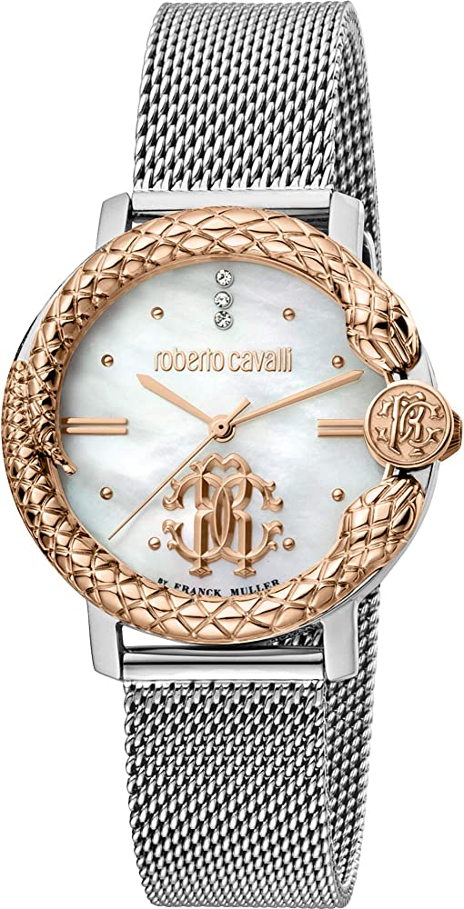 Roberto cavalli orologio elegante in acciaio inossidabile da donna RV2L057M0111