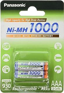 Panasonic High Capacity, Akku Ni MH 1000, AAA Micro, 2er Pack, min. 930 mAh, Hochkapazitäts Akku mit extrastarker Leistung