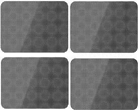 Xinlie Car Sun Shades Tinte profesional para Autos Película para Autos Carros auto-adhesivo Protector Solar Estático para Autos Parques para Vehículos Sun Shades Films Viseras 42 cm × 38 cm(4PCS)