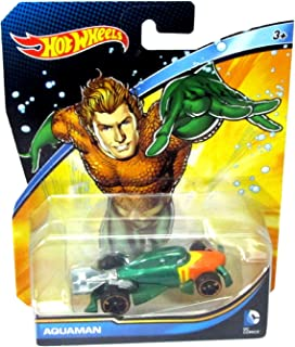 Hot Wheels, 2015 DC Comics Character Car, Aquaman, 1:64 Scale