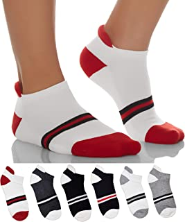 Sockyfy Unisex Socks- Athletic Ankle Extra Mesh Cotton Socks for Men and Women Free Size - Pack of 6 - Assorted Pack