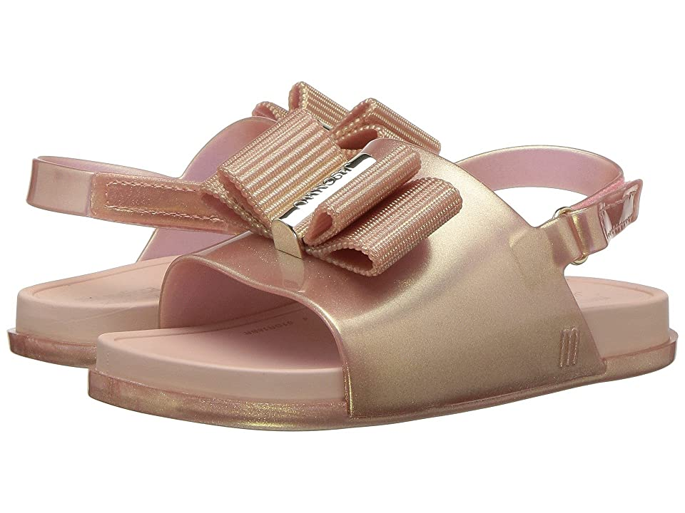 Mini Melissa Mini Beach Slide Sandal + Jason Wu (Toddler/Little Kid) (Metallic Pink) Girl