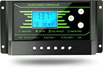 PWM 10A Solar Charge Controller 12V 24V Auto with Back-Light LCD Display Dual USB 5V Solar Regulator Charger Z10