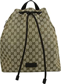 c9743e5407c2 Gucci Draw String Beige/Brown GG Canvas Pull String Back Pack 449175 9790