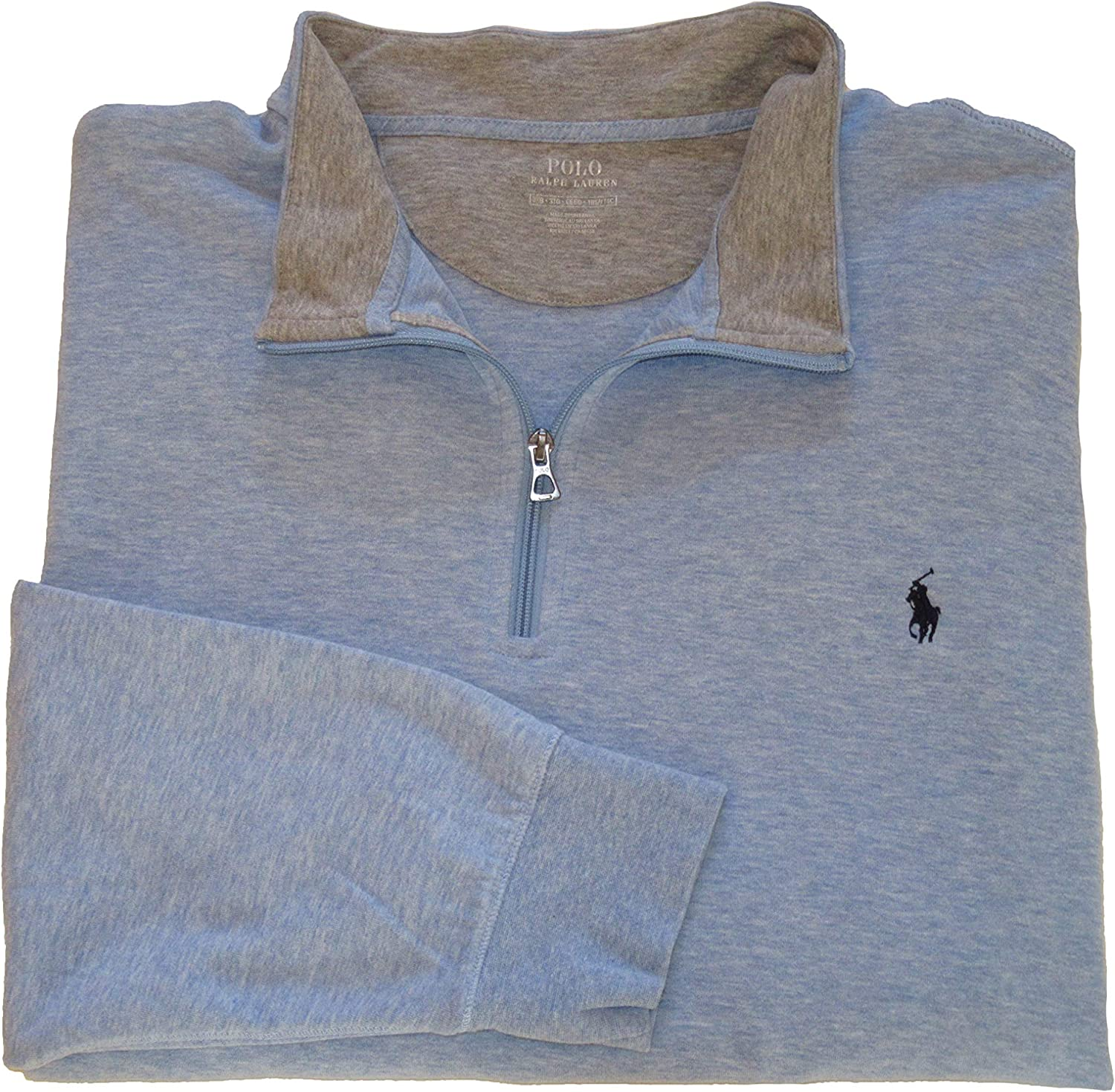 Ralph Lauren Polo Mens Big and Tall Jersey 1/2 Zip Pullover