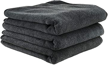 Chemical Guys MIC35303 Workhorse Professional Grade Microfiber Towel, Black (16 in. x 16 in.) (Pack of 3)