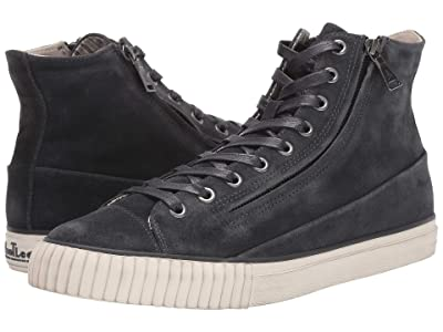 John Varvatos Vulcanized Washed Suede Double Zip Mid (Lead) Men