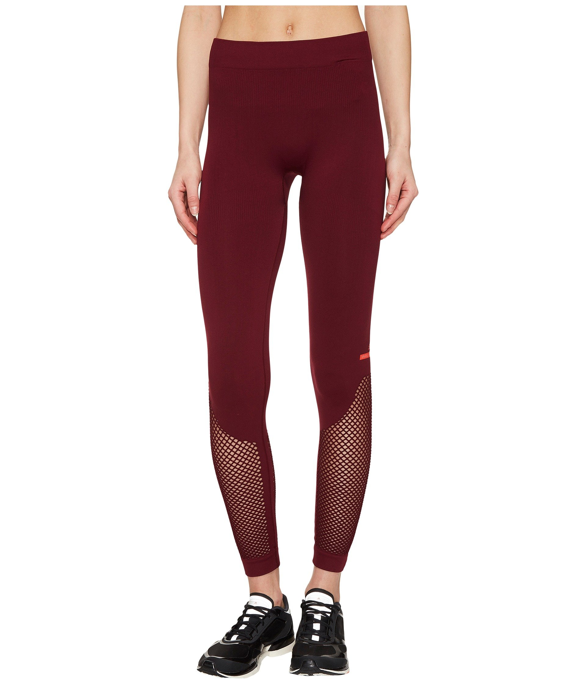 Adidas By Stella Mccartney The Seamless Mesh Tights Bq1028 In Cherry Wood 1e194ade8