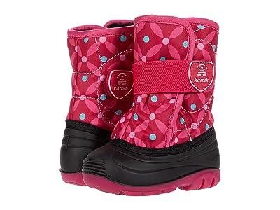 Kamik Kids Snowbug 4 (Toddler) (Black/Rose) Girls Shoes