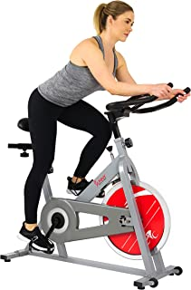 Sunny Health & Fitness Stationary Indoor Cycling Bike with 30 LB Flywheel, Felt Resistance, 220 LB Max Weight - SF-B1001/S