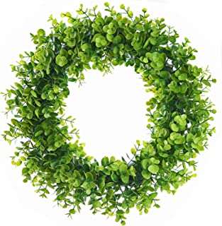 Lvydec Artificial Green Leaves Wreath - 15