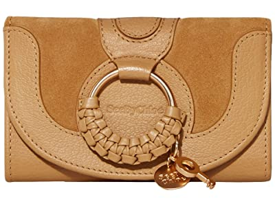See by Chloe Hana Compact Wallet (Coconut Brown) Handbags