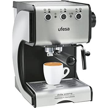 Ufesa Cafetera expreso Duetto Creme CE7141, 500 W, 1 Cups, Acero Inoxidable, Gris: 123.87: Amazon.es: Hogar
