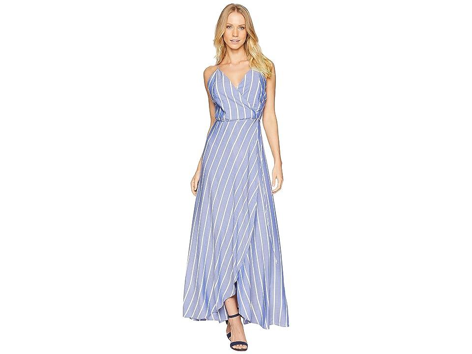 Bardot Raelyn Wrap Dress (Blue Stripe 1) Women