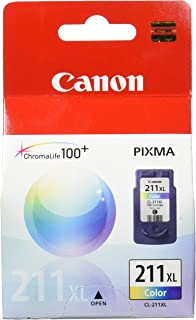 Canon CL-211XL 2975B001 PIXMA iP2700 iP2702 MP230 MP235 MP240 MP250 MP260 MP270 MP280 MP282 MP480 MP490 MP495 MP499 MX320 MX330 MX340 MX350 MX360 MX410 MX420 Ink Cartridge (Color) in Retail Packaging