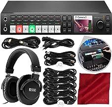 Blackmagic Design ATEM Television Studio HD Switcher with Over-Ear Headphones Deluxe Accessory Bundle