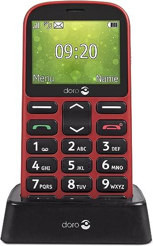 Doro 1360 Téléphone Portable 2G Dual SIM Débloqué pour Seniors avec Grandes Touches, Caméra, Touche d'Assistance et S...