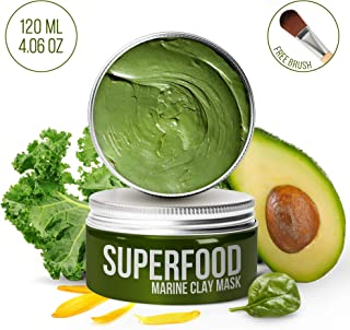 100% VEGAN Dead Sea Mud Mask with Superfoods - Healing Clay for FACE and BODY - Blackhead Remover - Cleanse and Detoxify the Skin - Clay Mask for Face - natural face mask - face mask for acne