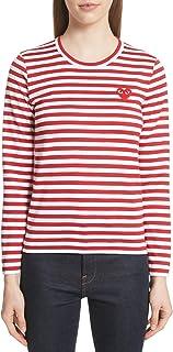 [コムデギャルソン] レディース Tシャツ Comme des Garons PLAY Stripe Cotton Tee [並行輸入品]
