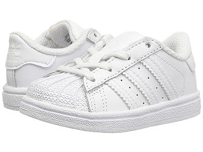 adidas Originals Kids Superstar EL (Infant/Toddler) (White/White) Kids Shoes