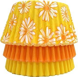 Scrumptious Sprinkles Green Daisy Mix Cupcake Cases x 36 Fabric 10x10x7 cm Multicoloured