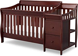 Delta Children Bentley S Convertible Crib and Changer, Black Cherry Espresso