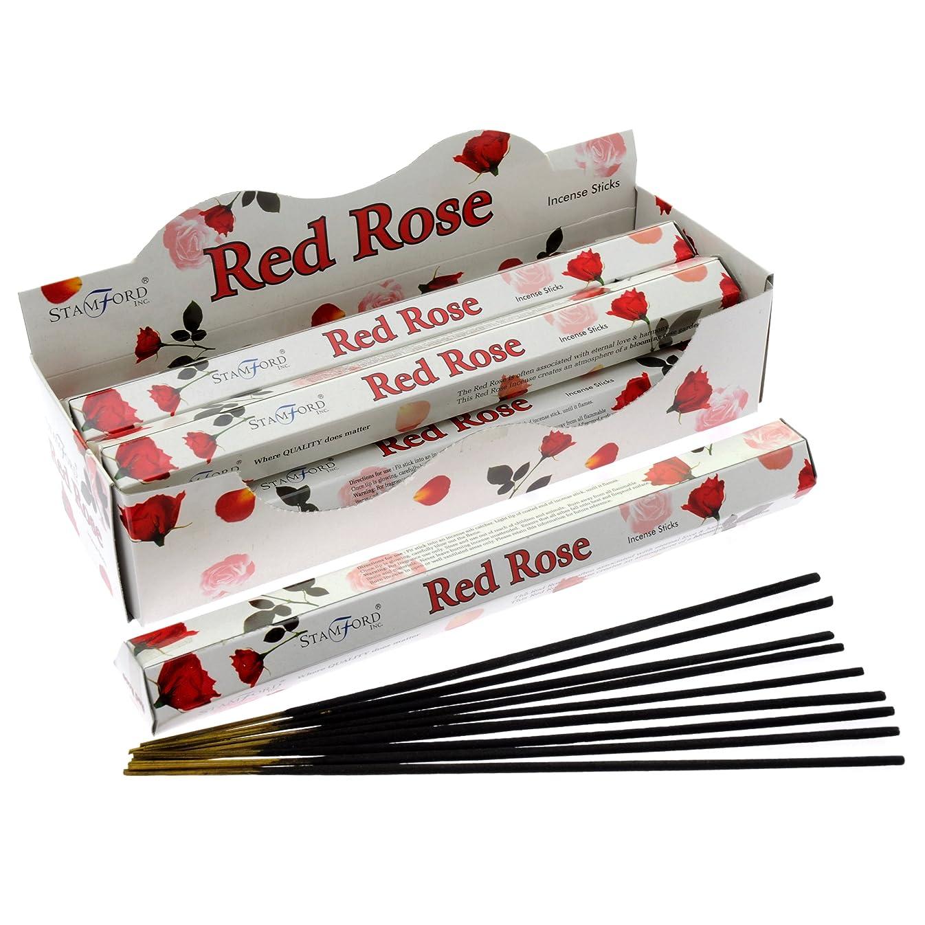 効率的ビーム引き付けるHEM ヘム レッドローズ REDLOSE ステック お香 6箱