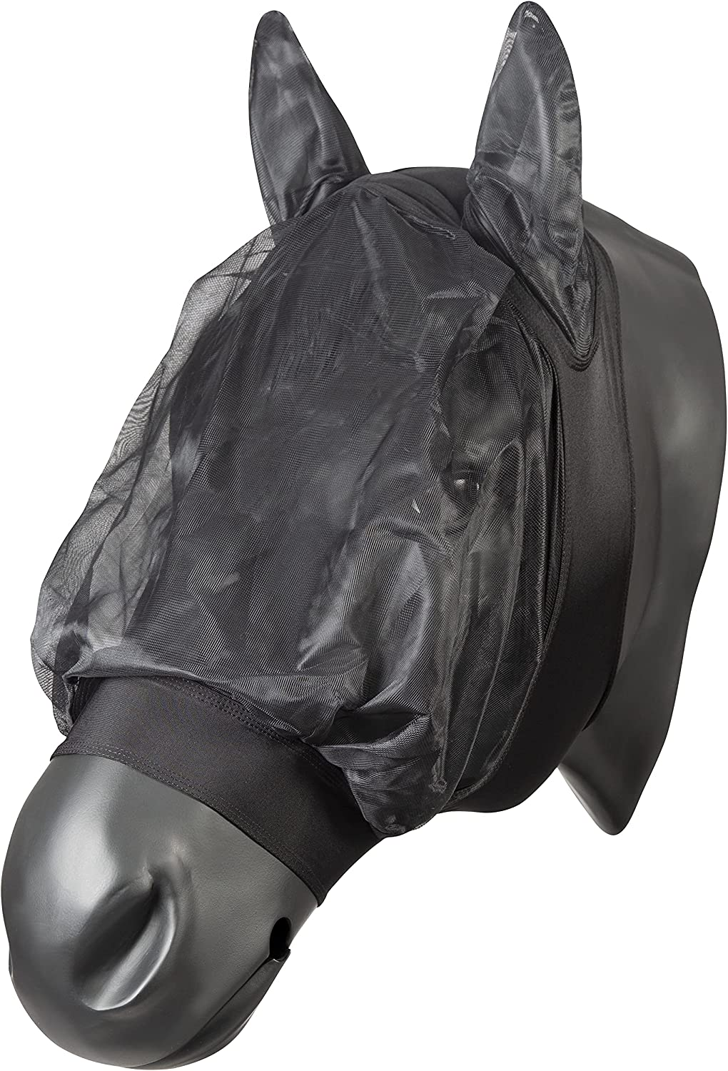 PFIFF 101977 Fly mask for Genuine Horses Full Size: Special price Black Warmblood