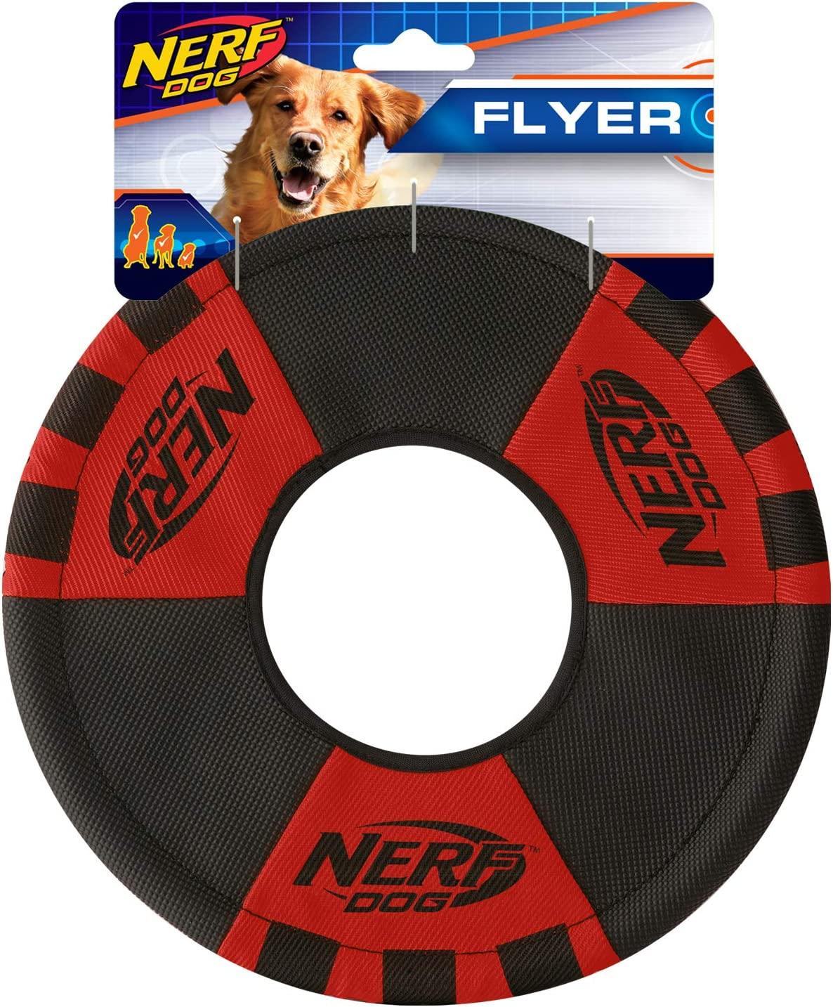 Nerf Dog Max 72% OFF Trackshot Toss and Tug Toy Ring Lightweight Durab Oklahoma City Mall