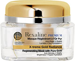 Rexaline X-treme Gold Radiance Regenerating Mask with 24 karatus Pure Gold 1.7 fl. oz.