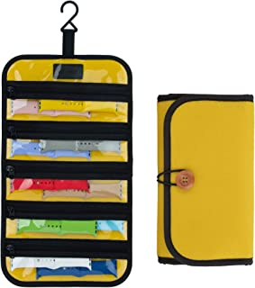 PACMAXI Watch Band Storage Roll Holds 10 Watch Bands Expandable for Most Sizes of Watch Bands, Organizer for Watch Band St...