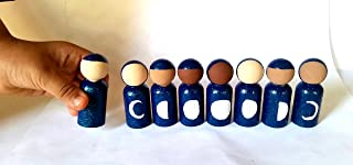Ramadan Dolls/ Faceless Doll/Phases of the Moon/Islamic/Eid/Lunar Month/Lunar Doll/Full Moon/Crescent Moon/Diverse Dolls/Montessori Waldorf
