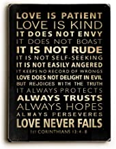 One Bella Casa Love is Patient Solid Wood Wall Decor, One Size, Multicolor