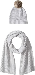 Women's Pom Knit Hat and Scarf Set