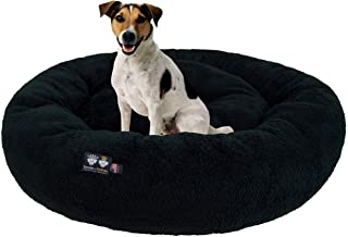 product image for Ultra Plush Deluxe Comfort Pet Dog & Cat Black Snuggle Bed (Multiple Sizes) - Machine Washable, Made in the USA, Reversible, Durable Soft Fabrics