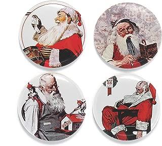 Buttonsmith Rockwell Santas Magnet Set - Set of 4 1.25