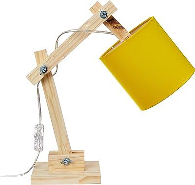 Luminária Articulada Amarela Carambola Luminárias Amrela/bege