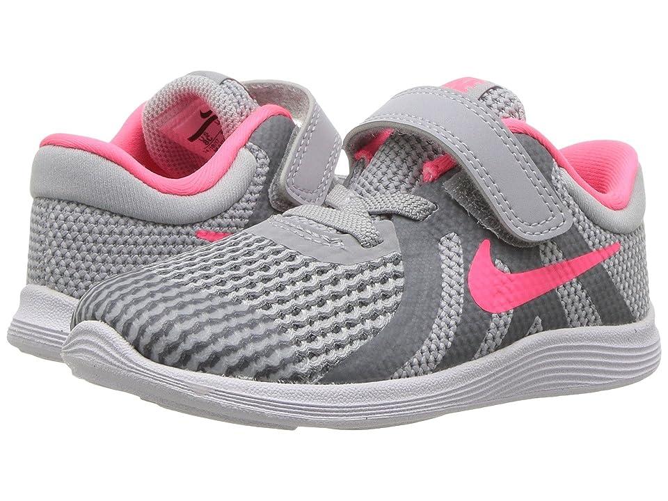 Nike Kids Revolution 4 (Infant/Toddler) (Wolf Grey/Racer Pink/Cool Grey/White) Girls Shoes