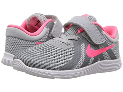Nike Kids Revolution 4 (Infant/Toddler) (Wolf Grey/Racer Pink/Cool Grey/White) Girls Shoes