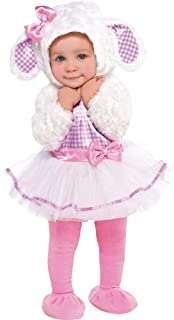 Amscan Baby Little Lamb Halloween Costume for Infants, Includes a Dress, a Hood, Tights and Booties