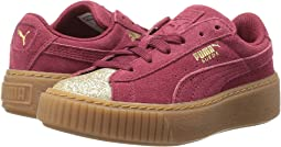 Puma Kids - Suede Platform Glam (Little Kid/Big Kid)