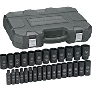 "GEARWRENCH 29 Pc. 1/2"" Drive 6 Point Deep Impact Metric Socket Set - 84935N"