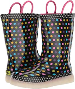 Western Chief Kids - Diva Dot LED Rain Boots (Toddler/Little Kid/Big Kid)
