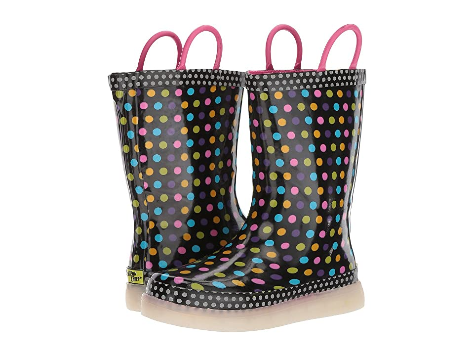 Western Chief Kids LED Lighted Rain Boots (Toddler/Little Kid/Big Kid) (Diva Dot) Boys Shoes