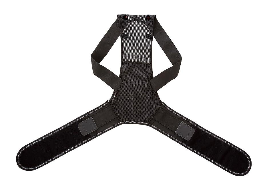 傘として姉妹家庭用永久磁石磁気治療器 肩?腰すっきり背筋ベルト ブラックM