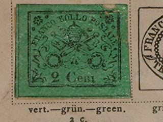 STAMP 1867 FRANCO BOLLO POSTALE 2 Cent.Roman States