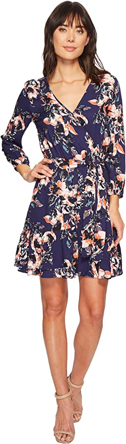 Splendid - Floral Surplice Wrap Dress